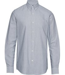 striped oxford sawsett overhemd business blauw mads nørgaard