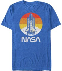 nasa men's vintage-like distressed space shuttle launch logo short sleeve t-shirt