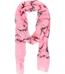 pashmina golondrinas rosa fight for your right
