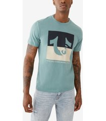 men's square trademark logo short sleeve crewneck tee