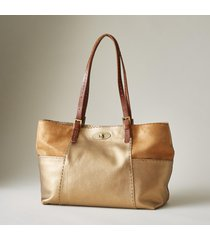 dune leather tote