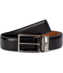 robert graham men's edeweiss reversible belt - black cognac - size 36
