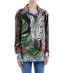 dolce & gabbana over shirt zebra