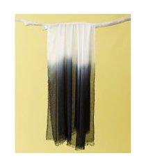 lenço em modal - lenço china cor: preto - tamanho: único