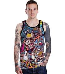 regata lucinoze camisetas crazy guitar preto.