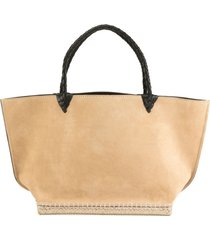 espadrille small suede tote bag