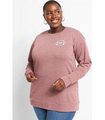 lane bryant women's game day graphic sweatshirt 26/28 burgundy