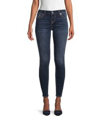 true religion women's skinny ankle jeans - dark - size 24 (0)