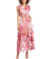 rachel rachel roy tie-dyed maxi dress