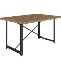 mesa de jantar steel light 4 lugaresvermont/preto industrial artesano