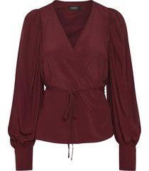 soaked in luxury 30404170 sl milany blouse ls bordeaux