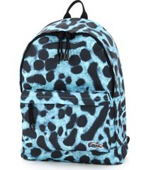 lacoste backpack with poison dart frog print