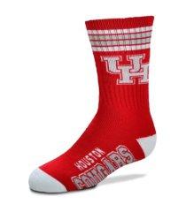 for bare feet alabama crimson tide youth 4 stripe deuce crew socks