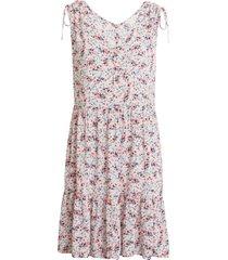 women's caslon print ruched shoulder dress, size x-large - pink
