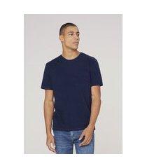 camiseta masculina em algodão - azul
