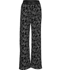 marc, 689 structure stretch wijde broek multi/patroon stine goya