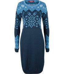 abito in maglia con motivi norvegesi (blu) - john baner jeanswear