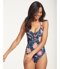 bali hai deep v one-piece swimsuit