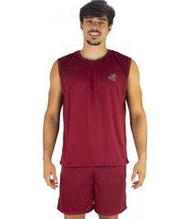 pijama mvb modas curto adulto camiseta vinho