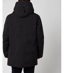 mackage men's edward nfr heavy down hooded parka - black - us 40/m