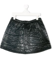 andorine textured patent mini skirt - black