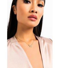 akira butterfly baby necklace