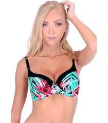 bikini estilo sostén copa c-d estampado rojo samia