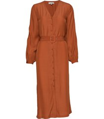 mirtha jurk knielengte oranje six ames