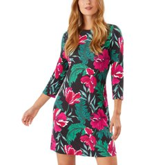tommy bahama baroque blooms printed dress