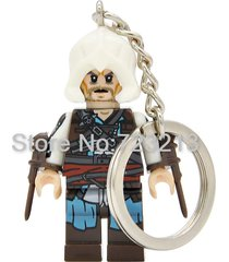 sa 1 pc kenway assassin's creed keychain single sale key chain minifigure blocks