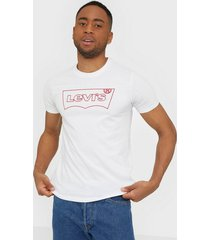 levis housemark graphic tee hm outli t-shirts & linnen neutral