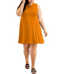 style & co plus size sleeveless swing dress, created for macy's