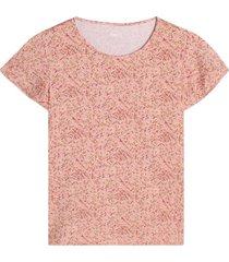 camiseta mujer flores rosa color rosado, talla l