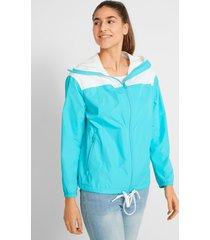 outdoor jas met extra hoge kraag