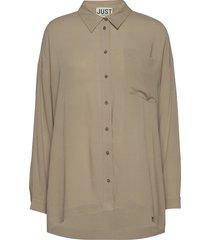 brooklyn shirt långärmad skjorta creme just female