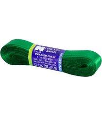 fita de cetim nº03 15mm peça com 10m verde bandeira