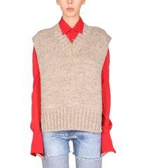 maison margiela alpaca blend vest