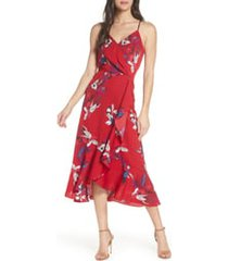 women's chelsea28 faux wrap floral midi dress