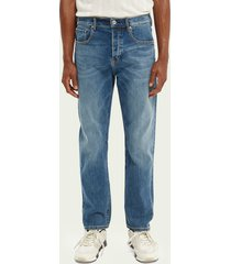 scotch & soda norm straight fit jeans – blue ink