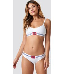 calvin klein monogram bikini panties bp - white