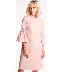 różowa sukienka wizytowa hebe