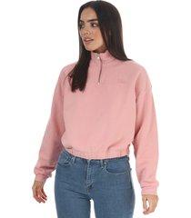 womens pom quarter zip sweatshirt