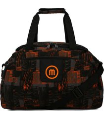 maleta 262 macoly lona naranja y negro