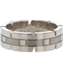 cartier 2010s pre-owned white gold tank ring