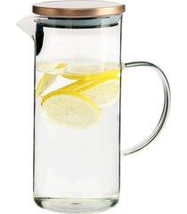 jarra de vidro com tampa para agua ou suco 1,3 litros - branco - dafiti