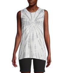 marc new york performance women's tie-dye tank top - overcast grey - size xs