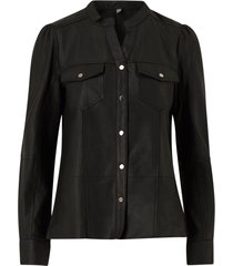 skjorta cualina leather shirt