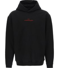 maison margiela hoodie with embroidered reverse logo