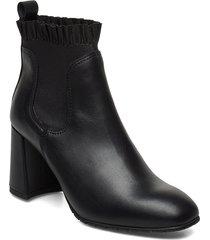 pumps shoes boots ankle boots ankle boot - heel svart ilse jacobsen