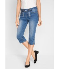 tiroler capri jeans met borduursel